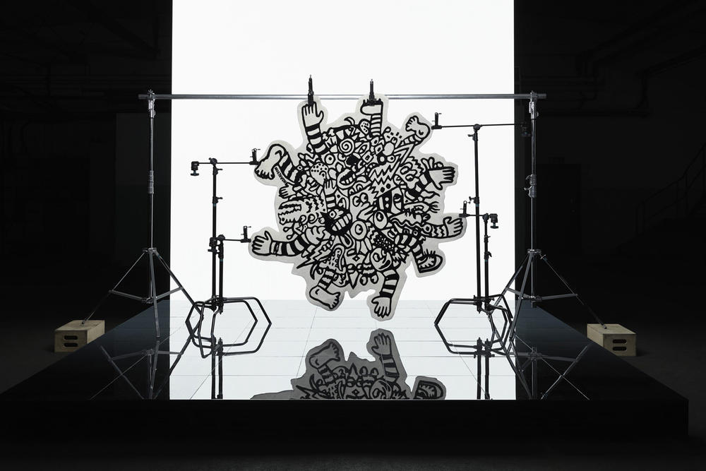 ikea art event 2019 rugs handmade limited edition Supakitch Chiaozza Noah Lyon Seulgi Lee Filip Pagowski black white drawing