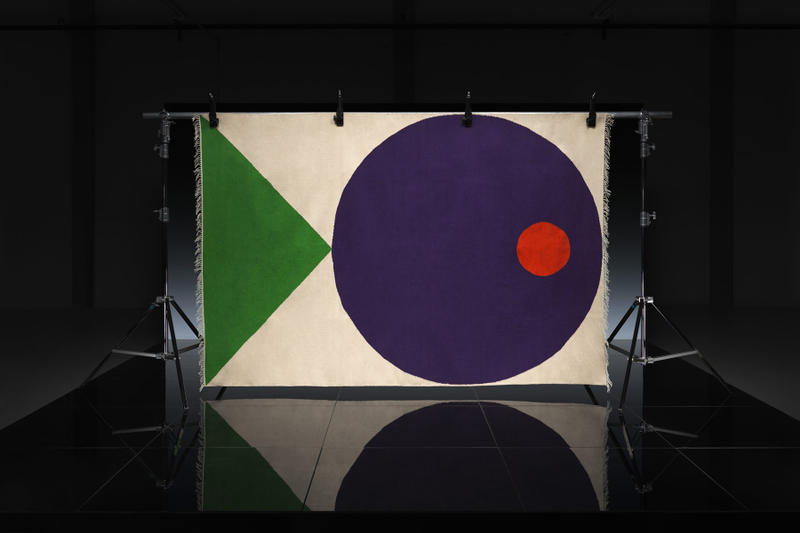 ikea art event 2019 rugs handmade limited edition Supakitch Chiaozza Noah Lyon Seulgi Lee Filip Pagowski tan green blue