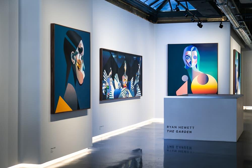 "Ryan Hewett ""The Garden"" Unit London Exhibit Exhibition Inside Art Artworks Paintings"