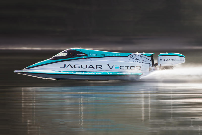 Jaguar Vector Racing V20E Boat World Electric Speed Record Williams Advanced Engineering