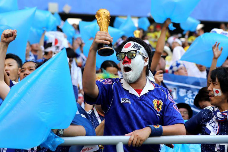 Japanese Soccer Fans World Cup Clean-Up Manners Colombia Senegal Trash