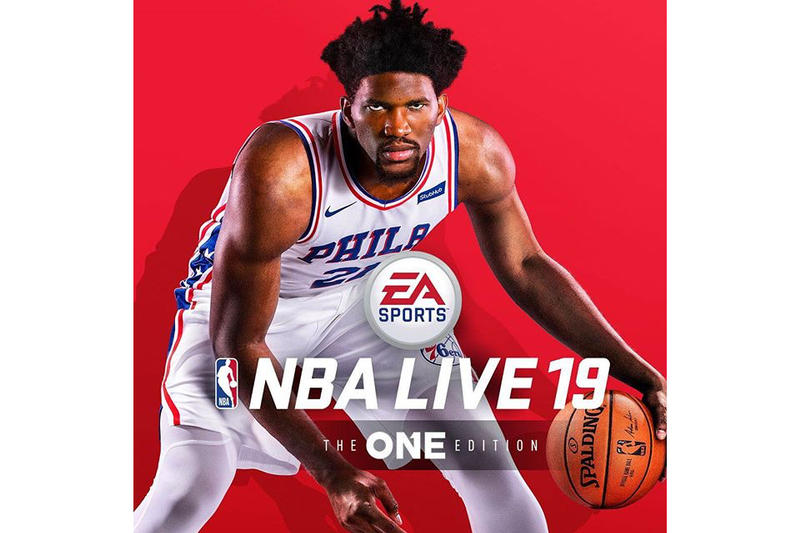 Joel Embiid NBA Live 19 cover video games basketball ea sports