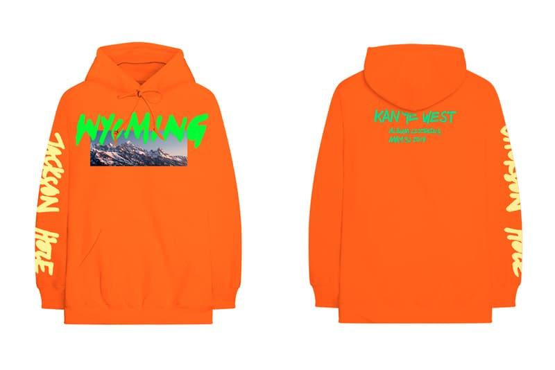 Kanye West YE Wyoming Listening Party Merch Release Jackson Hole T Shirt Long sleeve Hoodie black orange white pink
