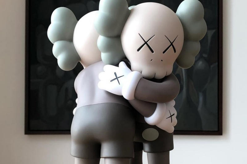 kaws together companion release kawsone vinyl collectible sculpture