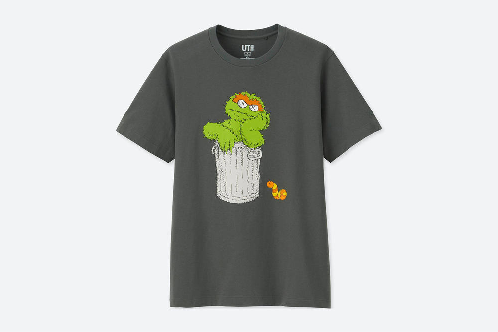 KAWS x Uniqlo UT 'Sesame Street' T-Shirt Collection t-shirt adult kids price release date every piece