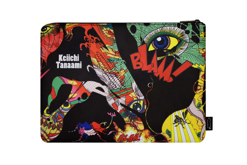 keiichi tanaami apportfolio artwork art skateboard deck pouch