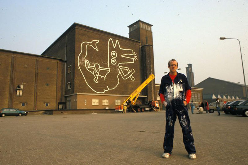 Keith Haring Mural Found in Amsterdam