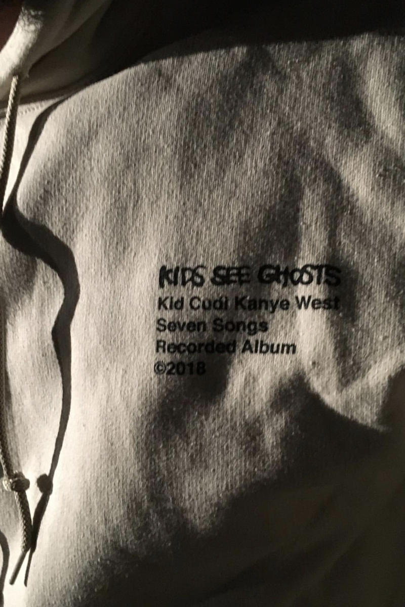 Kid Cudi Kanye West Los Angeles Album Listening Party Merch Hoodie Virgil Abloh Takashi MurakamiKi