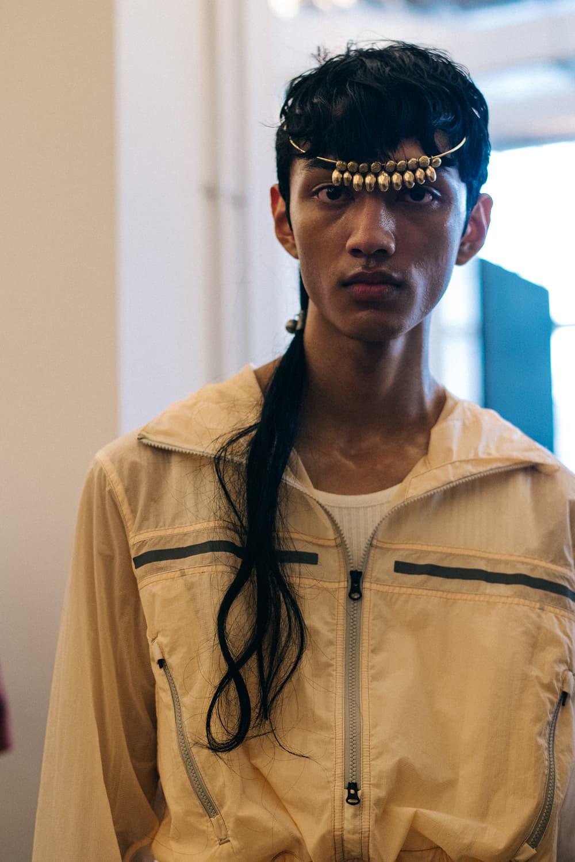 Kiko Kostadinov Spring/Summer 2019 Backstage London Fashion Week: Men's SS19 LFWM Stephen Mann Gimme 5