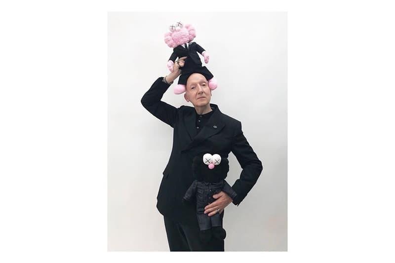 Kim Jones KAWS Dior Homme Pink BFF Plush Collaboration Bella Hadid Naomi Campbell stephen jones millinery Kate Moss Skepta A$AP Rocky Victoria Beckham Kim Kardashian alexandre arnault