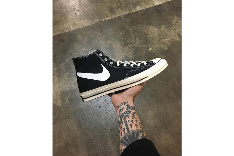 a30a021c0f75 LeBron James Converse Chuck Taylor 1970 Bootleg Nike Swoosh Chinatown  Market sneakers footwear basketball
