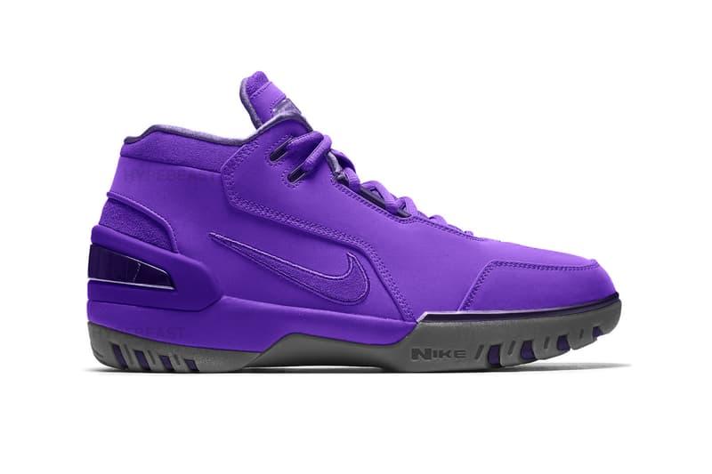 LeBron James Nike Air Zoom Generation PE First Look new purple suede sneakers footwear Quicken Loans Arena basketball