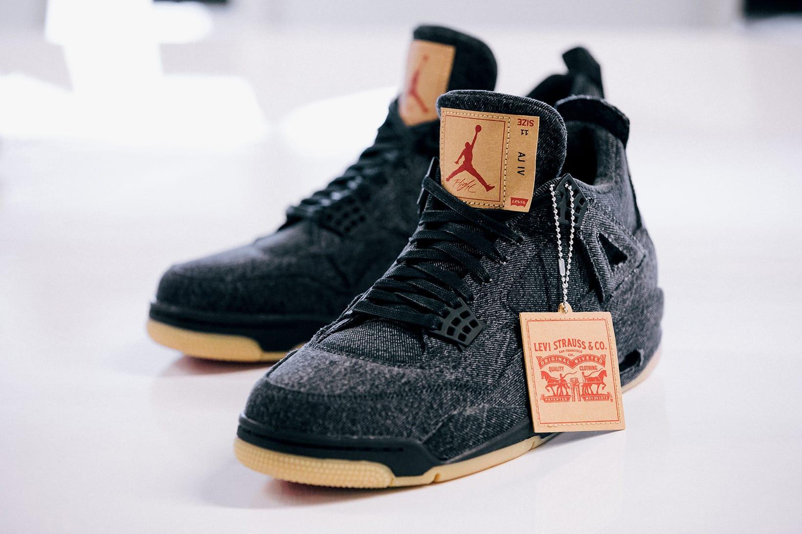 Levi's® x Air Jordan 4 Black \u0026 White