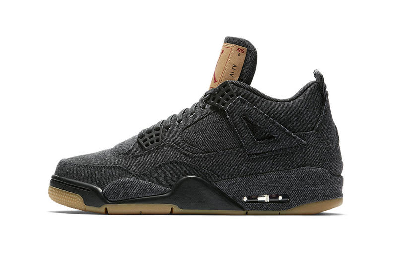 Levi's Air Jordan 4 Black White Official Look Release Info Hangtag