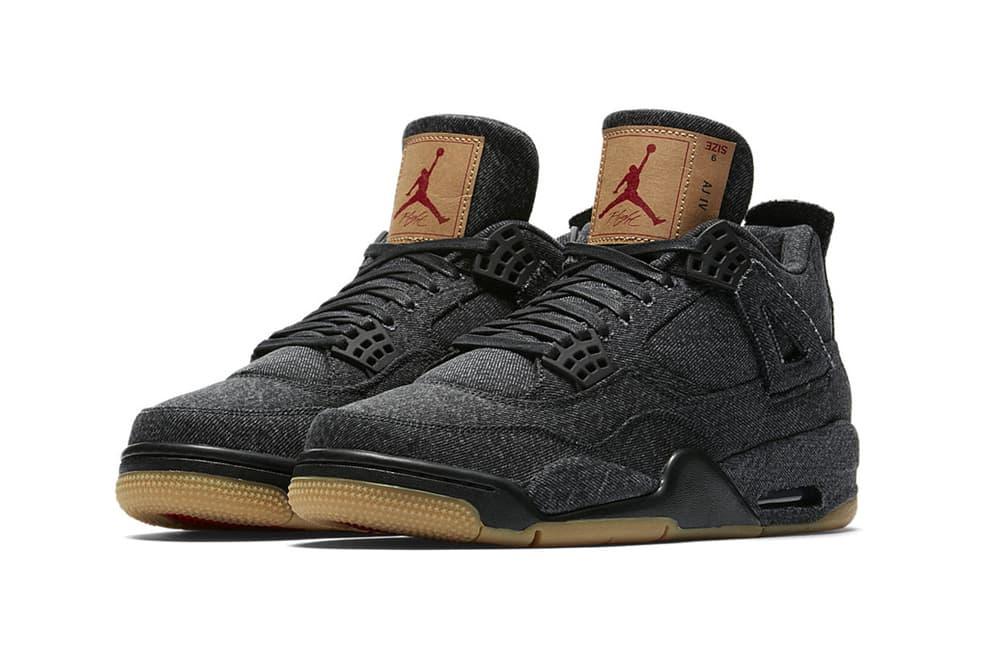 Levi's Air Jordan 4 Black White Official Look Release Info Hangtag