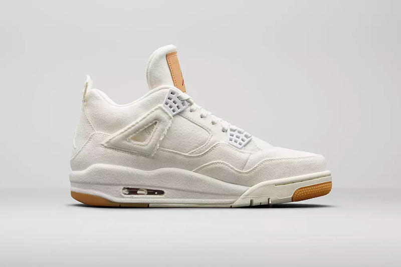 levi's jordan brand air jordan 4 white denim