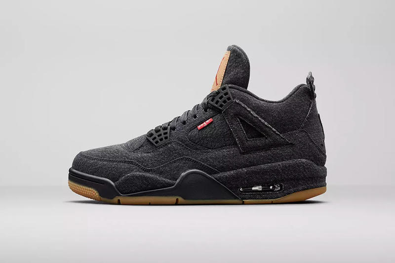 levi's jordan brand air jordan 4 black denim