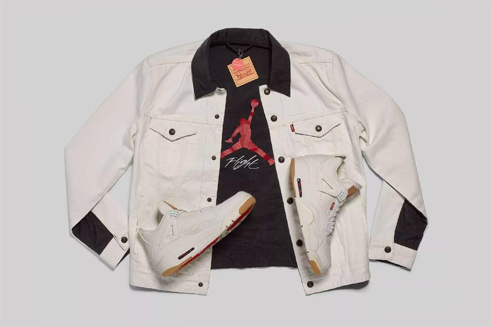 Jordan Brand White \u0026 Black Denim Jacket