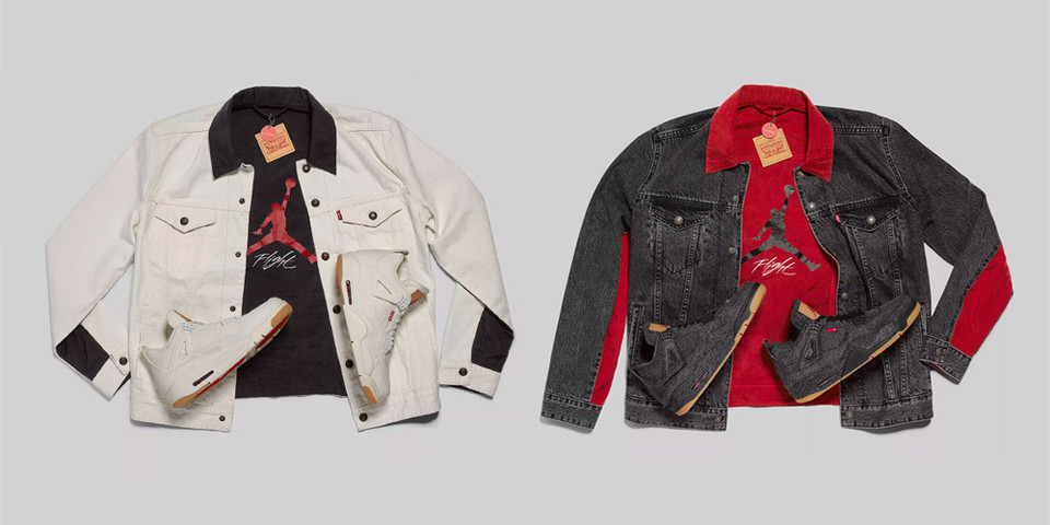 58eb48a07db Levi's & Jordan Brand White & Black Denim Jacket | HYPEBEAST