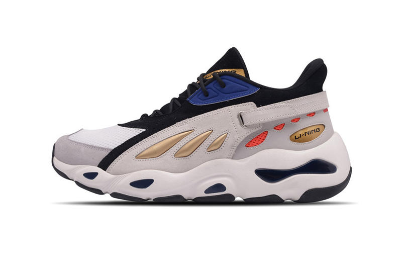 Li-Ning Butterfly Dad Shoes New york fashion week Fall Winter 2018 runway collection silver gold red blue white black grey colorways release date info look silhouette