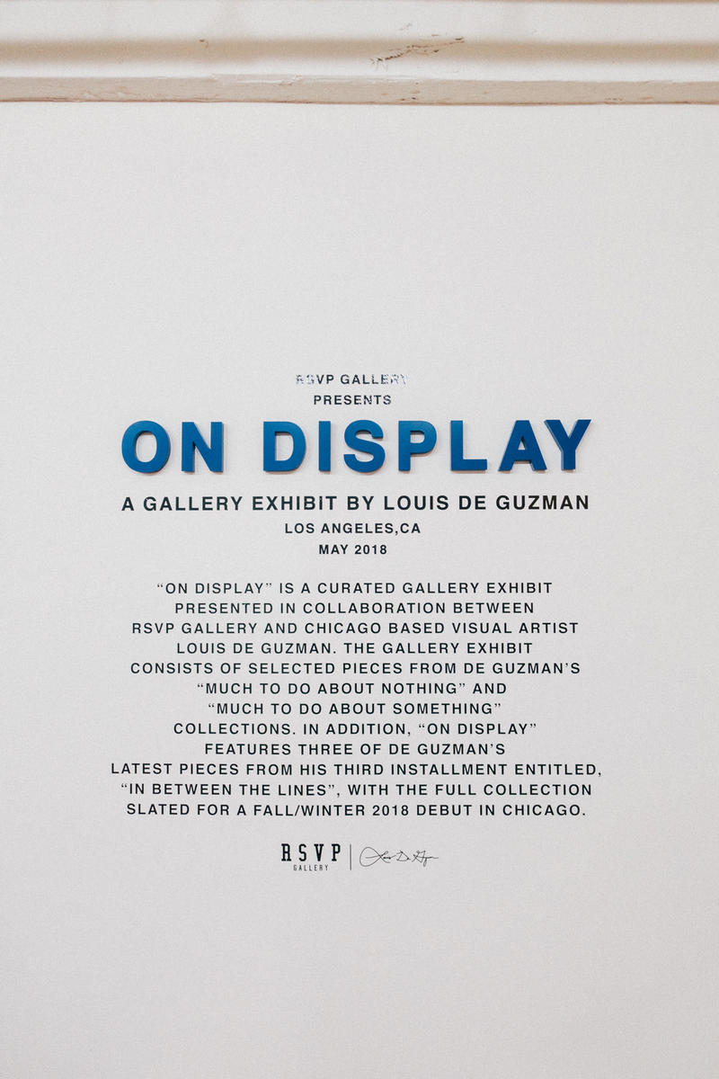 louis de guzman on display rsvp gallery paintings art artworks exhibitions shows merchandise streetwear clothing apparel accessories style fashion