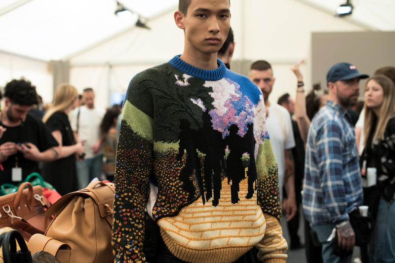 Louis vuitton spring summer 2019 backstage runway show collection virgil abloh debut premiere first accessories bags shirt tee coat fur