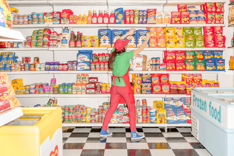 lucy sparrow mart store grocery food sewn hand felted painted made los angeles august 1 2018 open art installation sale collectibles 31000 piece