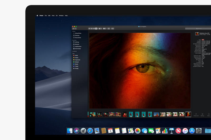 Apple macOS Mojave Preview WWDC 2018