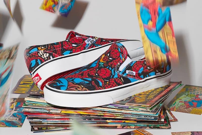 marvel x vans 2018 collection slip on