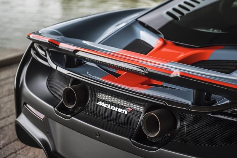 custom McLaren 675LT paintjob lemans livery gulf oil