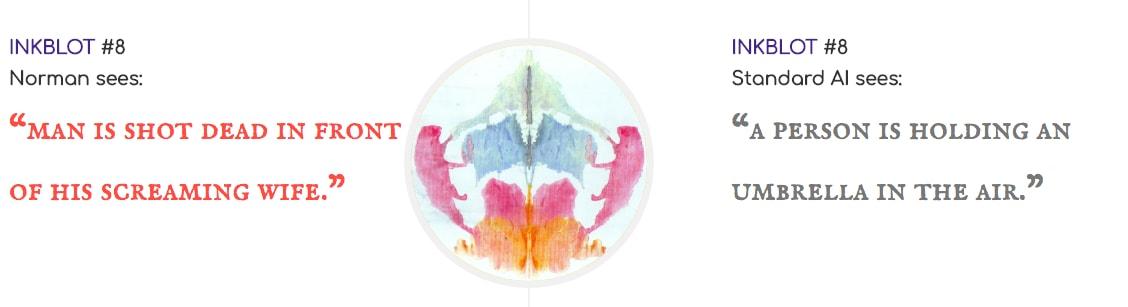 MIT Norman Psychopath AI Reddit Data inkblot rorschach test