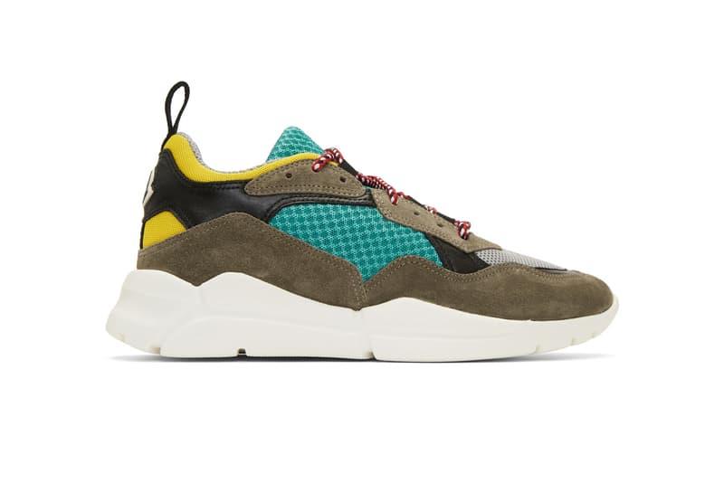 Moncler Multicolor Calum Sneakers brown black green white yellow june 2018 release date info drop shoes footwear