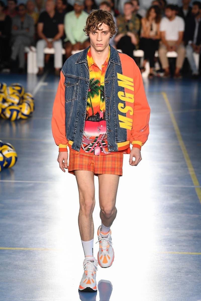 Milan Fashion Week Spring Summer 2019 MSGM Massimo Giorgetti Sportswear Streetwear