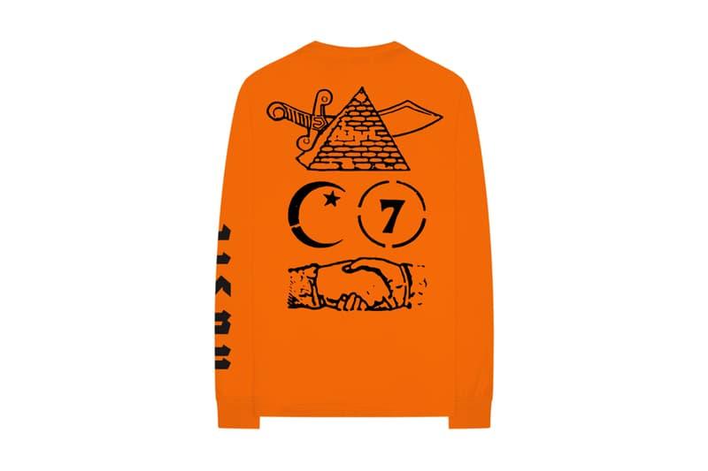 Nasir Merchandise Collection nas hoodies crewnecks t-shirts release info orange green tan black