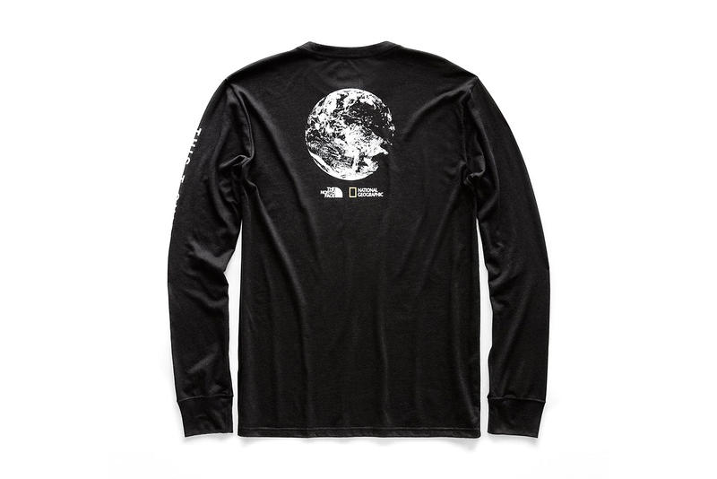 national geographic north face bottle source collaboration tee shirts limited edition long sleeve black graphic