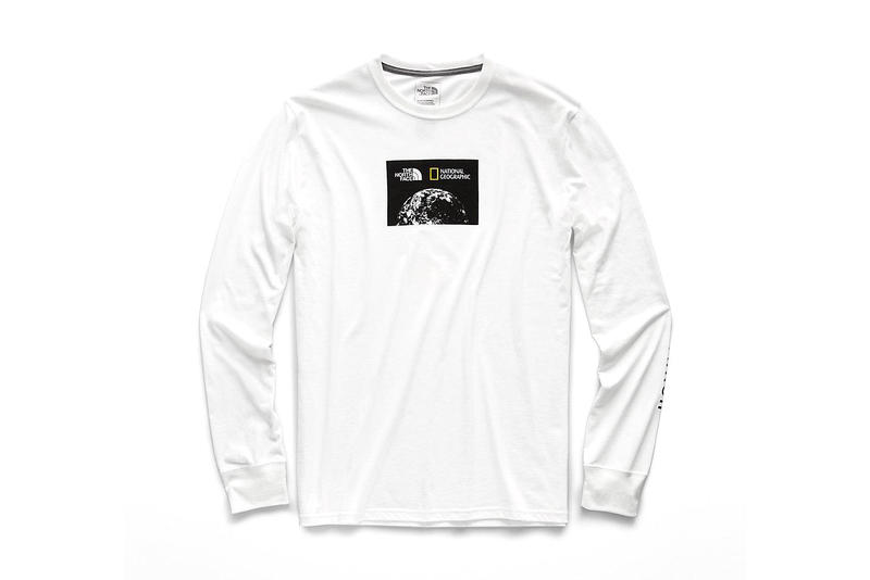 national geographic north face bottle source collaboration tee shirts limited edition white long sleeve graphic