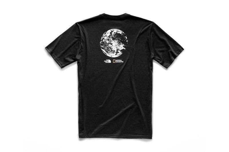 national geographic north face bottle source collaboration tee shirts black short sleeve limited
