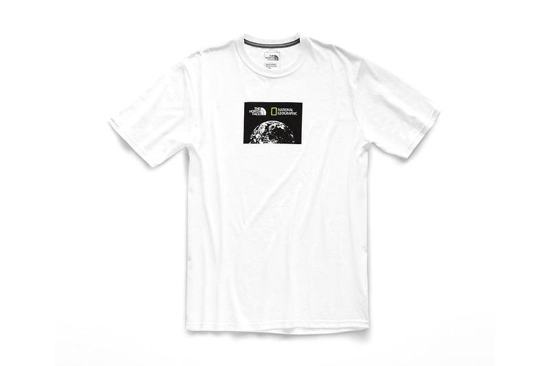 national geographic north face bottle source collaboration tee shirts white short sleeve graphic limited