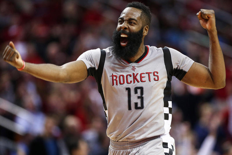 NBA James Harden MVP 2018 Awards James Harden Most Valuable Player Ben Simmons Rookie of The Year Dwayne Casey Coach Lou Williams 6th Man Rudy Gobert Def. Victor Oladipo Improved