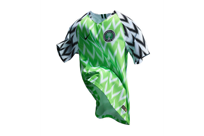 8480a6075 Nike 2018 fifa World Cup Kits sustainability Recycled Plastic bottles  nigeria federation uniform football jersey