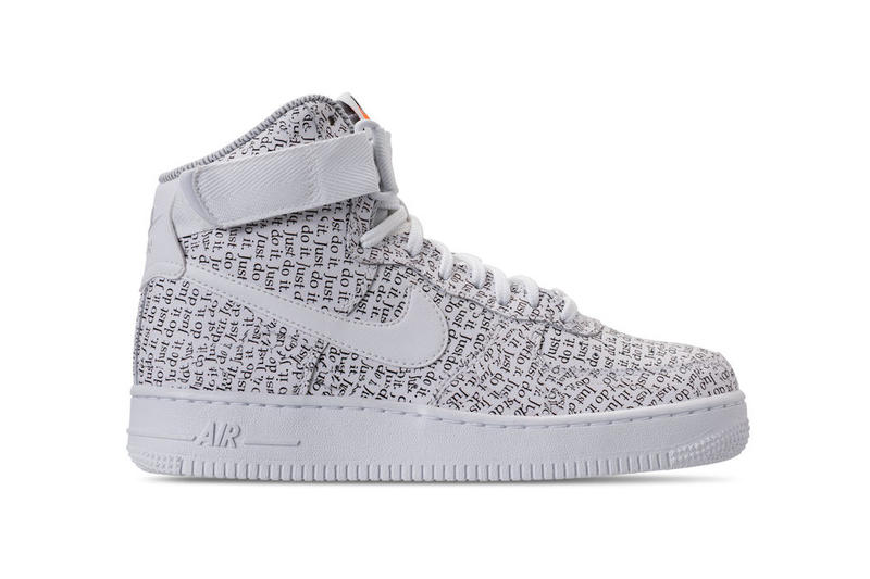 premium selection e9515 5082f Nike Air Force 1 High Just Do It Pack black white 2018 release date info  drop