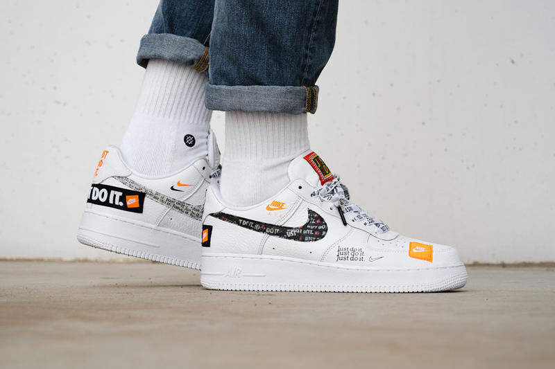 wholesale dealer ec0bf da8fe nike air force 1 low just do it pack on foot nike sportswear 2018 june