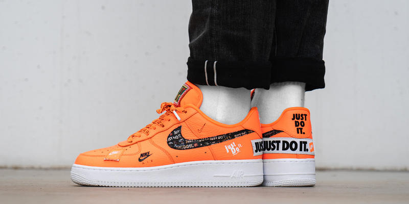 nike air force 1 low just do it pack on foot nike sportswear 2018 june 55f046e76f2a