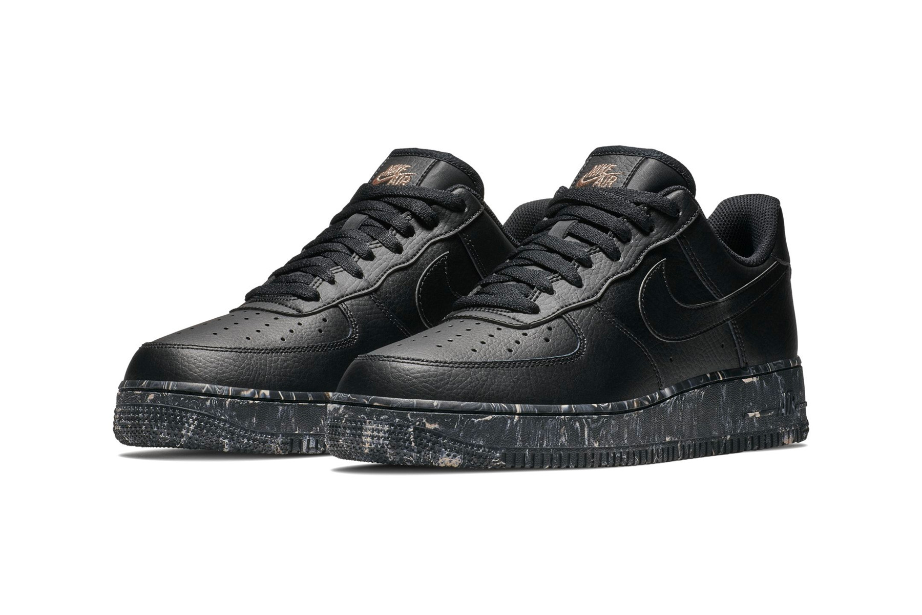 Nike Air Force 1 Low Black Marble Print