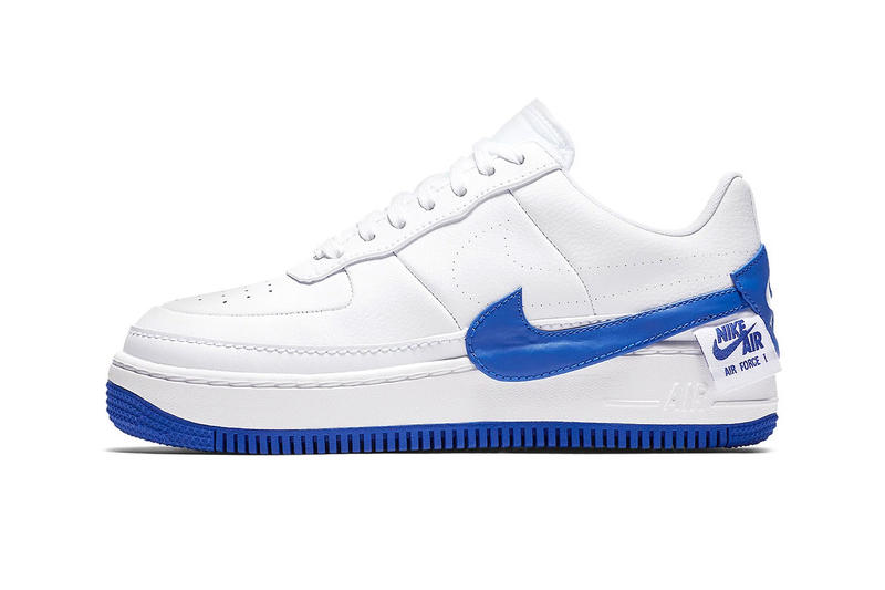Nike Air Force 1 low Jester royal white sneaker deconstructed the 1s reimagined leather blue footwear sneakers release