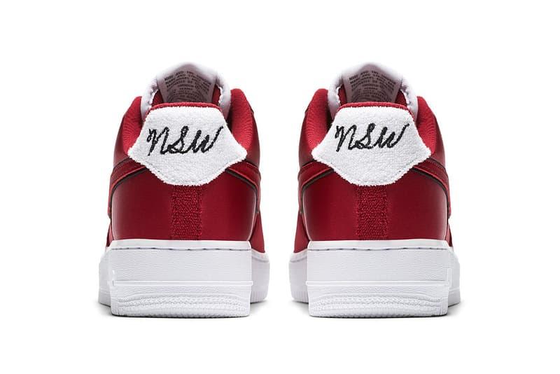 Nike Air Force 1 New NSW Logo white navy red red white black footwear 2018 nike sportswear