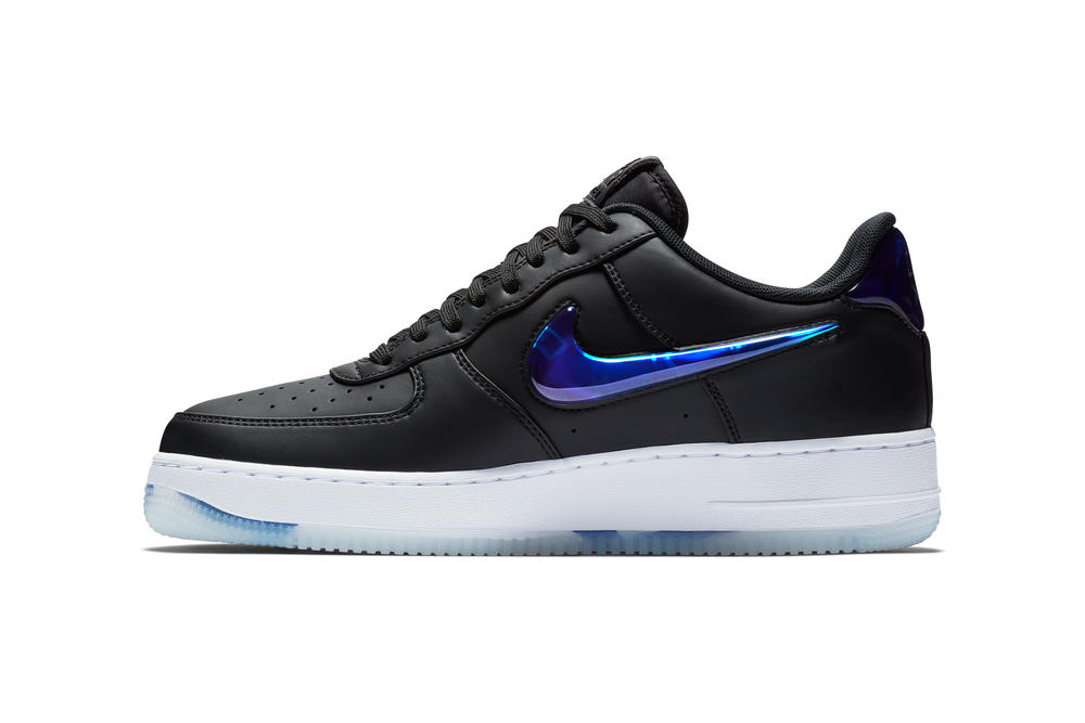 PlayStation Nike Air Force 1 low SNKRS STASH 2018 18 june footwear nike sportswear e3 expo black blue jelly ps sony white translucent transparent leather synthetic release info information date drop