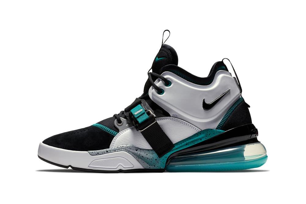 Nike Air Force 270 Air Command Force Colorway White black grey jade teal