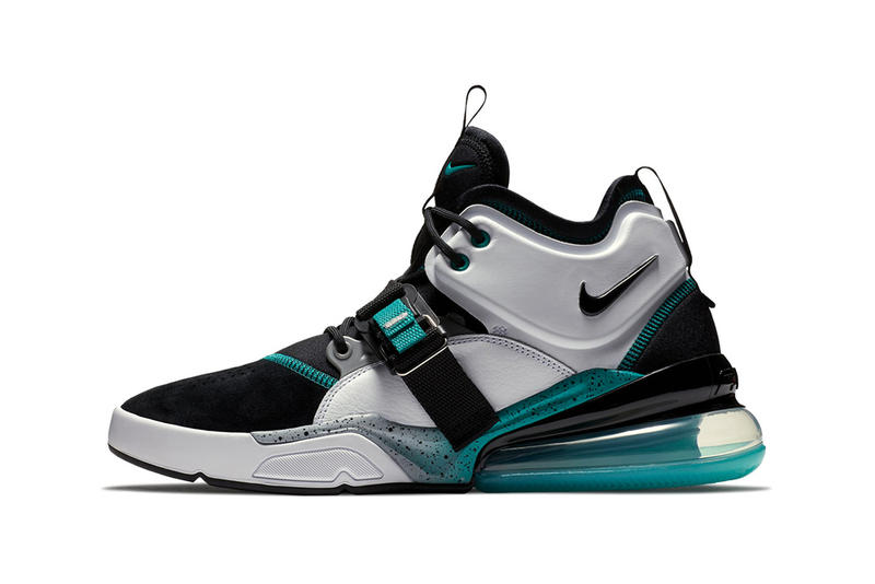 Nike Air Force 270 Air Command Force Colorway White black grey jade teal