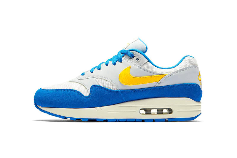 separation shoes 95e81 c3dfa Nike Air Max 1 Sail Amarillo Pure Platinum Signal Blue july 2018 release  date info drop